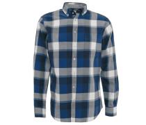 Freizeithemd, Comfort Fit, Baumwolle, Button-Down-Kragen, Blau