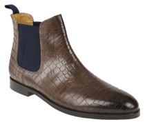 """Chelsea Boots """"Susan 10"""", Leder, Kroko-Optik, Grau"""