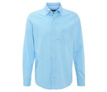 Hemd, Button-Down-Kragen, Kontrastnähte, Türkis
