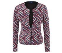 Strickjacke, Blazer-Stil, Muster, Strukturgewebe, Punkte
