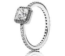 Timeless Elegance Ring Silber mit Zirkonia quadratisch 190947CZ-52