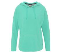 Sweatshirt, Kapuze, atmungsaktiv, meliert, für Damen, Türkis