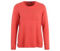Pullover, Strick-Muster, Blockstreifen, Rot