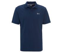 Poloshirt, UV-Schutz, Loose Fit, Stickerei, für Herren, Blau