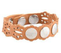 Armband, Leder, Lochmuster, Druckknöpfe