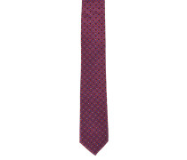 Krawatte, gemustert, reine Seide