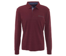 Poloshirt, Langarm, Brusttasche, Rot