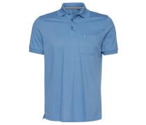 Poloshirt, Brusttasche, Knopfleiste, feines Piqué