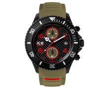 ICE carbon black & khaki Herrenuhr CA.CH.BKA.BB.S.15