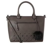 Handtasche, Lederimitat, Lochmuster