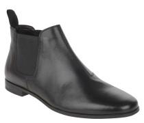 Chelsea Boots, Leder, Schlupf, uni