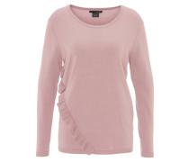 Pullover, uni, Rüschen-Applikation
