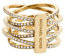 """Ring, """"BRILLIANCE"""", Edelstahl, goldfarbend, MKJ4422710"""