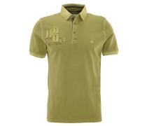 Poloshirt, Aufnäher, Print, Logo-Stickerei, Grün