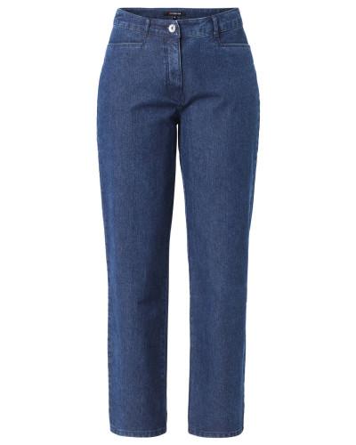 """Jeans """"Bina"""", Straight Fit, zwei Eingrifftaschen, Baumwollmix, Blau"""