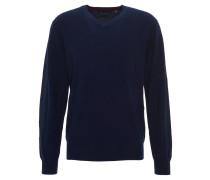 Pullover, Kaschmir, V-Ausschnitt, Rippenbund