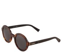 Sonnenbrille, Havanna-Optik, runde Gläser