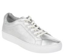Sneaker low, Leder, Schnürung, glitzernd