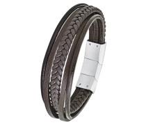 Armband Edelstahl, 9235629, braun