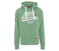 Sweatshirt, Print, Kapuze, Taschen
