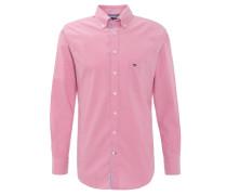 Freizeithemd, Baumwolle, Button-Down-Kragen, Logo-Stickerei, Pink