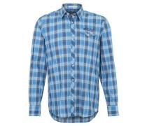 Freizeithemd, Kent-Kragen, Regular Fit, Blau
