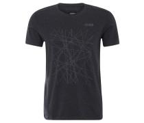 """T-Shirt """"Dynamic"""" für Herren, Baumwollmix, Stretch, grafischer Print, Grau"""