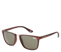 "Sonnenbrille ""SDS Aftershock 103"", Havana-Stil, matt, goldenes Detail"