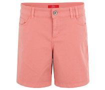 Shorts, uni, 5-Pocket-Design, Baumwolle, Orange