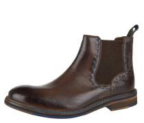 Chelsea Boots, Ziernähte, Lochmuster, Reptilienmuster