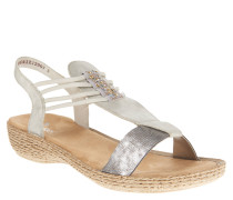 Sandalen, Nieten, Glitzer-Optik, elastische Riemen