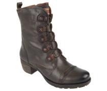 Stiefel, Leder, Reißverschluss, Blockabsatz