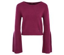 "Pullover ""Anita"", Trompetenärmel, Woll-Anteil, Emblem, Pink"
