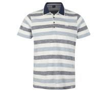 Poloshirt, Muster, Reine Baumwolle, Blau