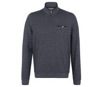 Pullover, Feinstrick, Troyer-Kragen, Brusttasche, Blau