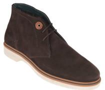 "Boots ""Hudson"", Veloursleder, Lederschnüre, Braun"