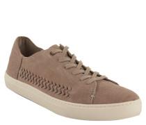"""Sneaker """"Lenox"""", Veloursleder, Flecht-Details, Taupe"""