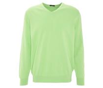 """Pullover """"Vico"""", Stretch, Baumwolle, V-Ausschnitt, Grün"""