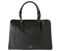 """Handtasche """"Zalia"""", weiches Leder, goldfarbene Details, Schwarz"""