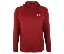Sweatshirt, meliert, Kapuze, Reißverschlusstaschen, für Herren, Rot