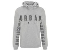 Sweatshirt, Struktur-Print, Kapuze