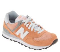 """Sneaker """"WL574CB"""", Velours-Leder, Mesh-Elemente, Apricot"""