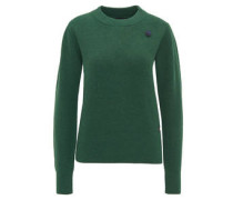 Pullover, Strick, Button, Wolle-Mix