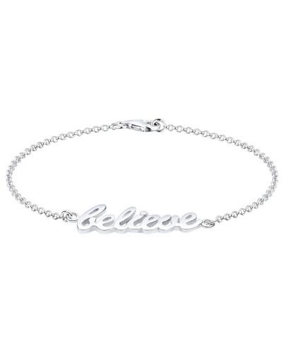 Armband Believe-schriftzug 925 Sterling