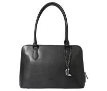 Handtasche, Leder, Anhänger, Schwarz