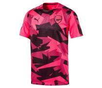 T-Shirt, geometrisches Muster, FC Arsenal, atmungsaktiv, Schwarz