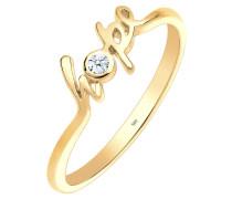 Ring Hope-schriftzug Diamant 0.03 Ct. 585 Gelbgold