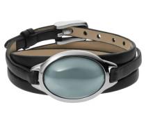 Armband Wickel Leder Sea Glass blau SKJ0390040