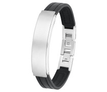 Armband Ident Leder mit Edelstahl