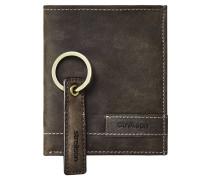 Geldbörse, Set, Schlüsselanhänger, Leder, klein, Hochformat